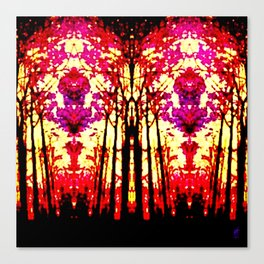 Sunset Stain Glass Canvas Print