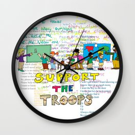 Support the Troops 2 Wall Clock