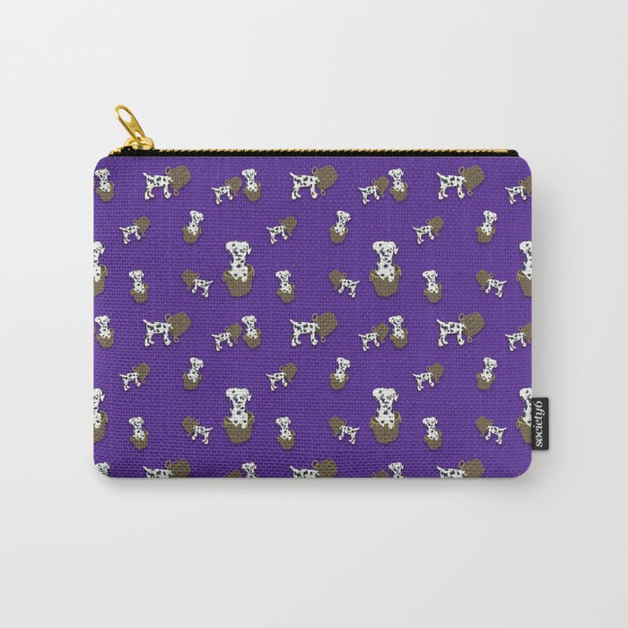 Purple puppy antics | Puppies at play Carry-All Pouch