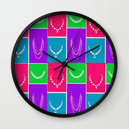 necklaces.. hot pink, hot green, electric blue, purple.. jewerly.. diva.. Wall Clock