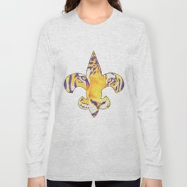Fleur De Lis LSU Tiger Long Sleeve T-shirt