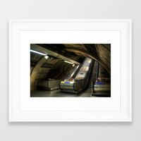 subway Framed Art Prints featuring Subway by Svetlana Sewell