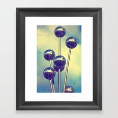 The world on balls Framed Art Print