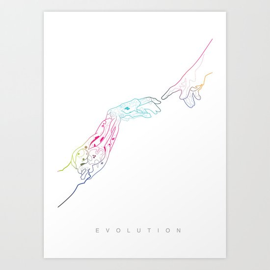 The Next Stage Of Evolution Art Print