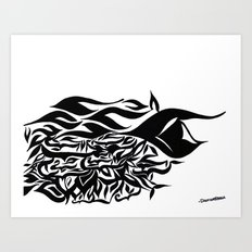 wave design 1.0 Art Print