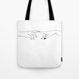 Hands - magic touch Tote Bag