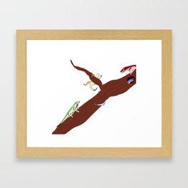 Lizards hanging out Framed Art Print