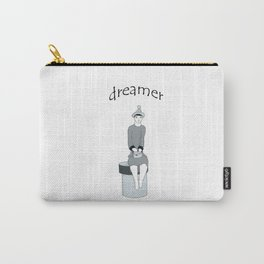 a girl sits and dreams Carry-All Pouch