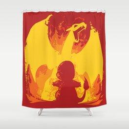 Charizard Evolution Shower Curtain