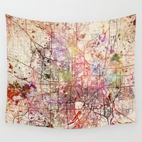 minneapolis Wall Tapestries featuring Minneapolis by MapMapMaps.Watercolors