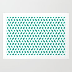 rhombus bomb in emerald Art Print