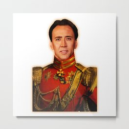 Nicolas Cage Art | Funny Meme | Nic Cage Face | Gift For Men, Woman Metal Print