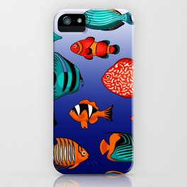 Peces tropicales iPhone Case