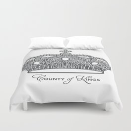 County of Kings | Brooklyn NYC Crown (GREY) Duvet Cover
