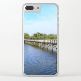 Lake front Clear iPhone Case