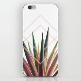 Tropical Desire - Foliage and geometry iPhone Skin