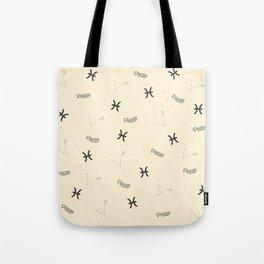 Pisces Pattern - Beige Tote Bag