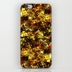Solid Gold - Abstract, metallic gold textured pattern iPhone & iPod Skin