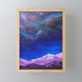 The Expanded Life Beyond, cosmic earth Framed Mini Art Print
