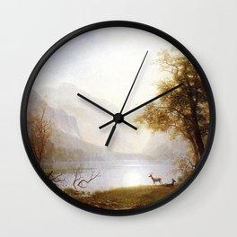 Albert Bierstadt - Valley in Kings Canyon Wall Clock