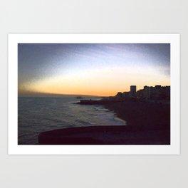 Seafront sunset Art Print