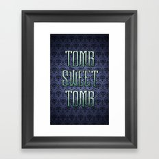 Haunted Mansion - Tomb Sweet Tomb Framed Art Print