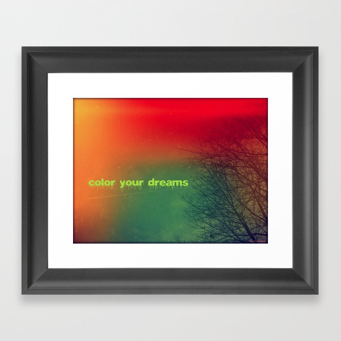Color your dreams Framed Art Print