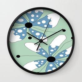 FLOWERY  IRIS / ORIGINAL DANISH DESIGN bykazandholly Wall Clock