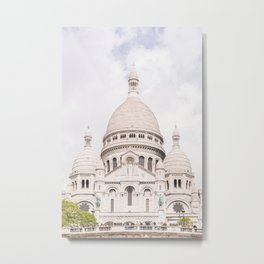 The Sacre-Coeur Basilica in Paris Metal Print