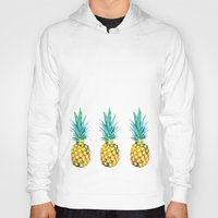 pineapples Hoodies featuring Pineapples by Yilan