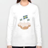swedish Long Sleeve T-shirts featuring Swedish Buns  by Salina Sees London