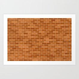 Brown Brick wall Art Print