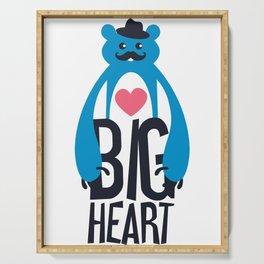 Big Heart Bear Serving Tray