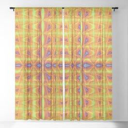 Energy Optical Illusion Sheer Curtain