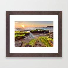 a Mossy Sunrise  Framed Art Print