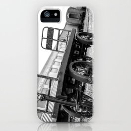 Let's carry through this journey B&W iPhone Case