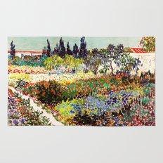 Vincent Van Gogh Flowering Garden Rug