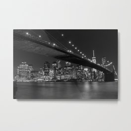 Brooklyn Bridg at night Metal Print