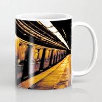 subway Mugs featuring NYC Subway by Thomas Eppolito