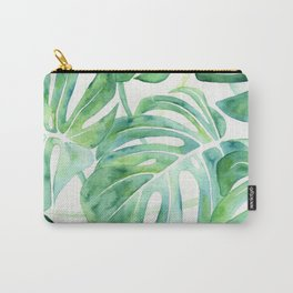 Monstera Leaf Pattern Carry-All Pouch