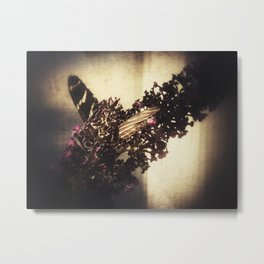 Hiding Butterfly Metal Print