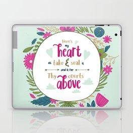 """Here's My Heart"" Hymn Lyric Laptop & iPad Skin"