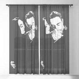Gomez & Morticia Sheer Curtain