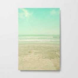 Sand and waves Metal Print