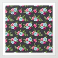 flower pattern Art Prints featuring Flower Pattern by eARTh