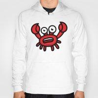 luigi Hoodies featuring Crab Luigi by Leon-Design