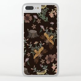 Forest Elements Clear iPhone Case