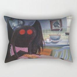 mothman in domestic bliss Rectangular Pillow