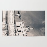 religion Area & Throw Rugs featuring Religion by Sébastien BOUVIER