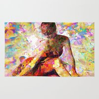 kandinsky Area & Throw Rugs featuring Ballerina In Repose by Mark Compton